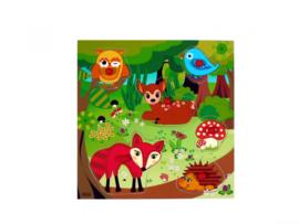 Houten puzzel bosdieren - Hess