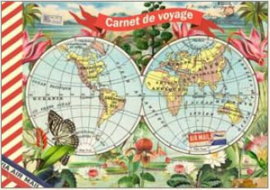 Geïllustreerd Notebook Mappemonde - Gwenaëlle Trolez Créations