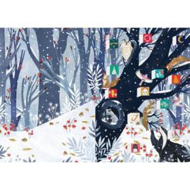 Adventskalender kaart Hollow Tree Christmas - Roger la Borde