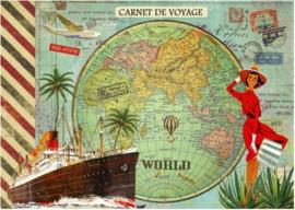 Geïllustreerd Notebook Monde - Gwenaëlle Trolez Créations