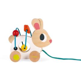 Mini looping-trekdier konijn