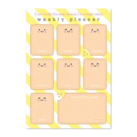 Notitieblok A4 Weekplanner Tough Cookie - Studio Schatkist