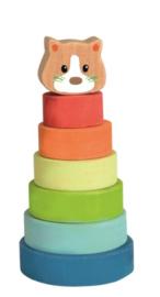 Houten stapelkat - Egmont Toys