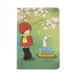 Notitieboekje Librarian met stickers - Poppi Loves - Santoro London