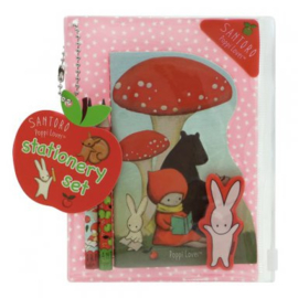 Stationary set mini roze Poppi Loves