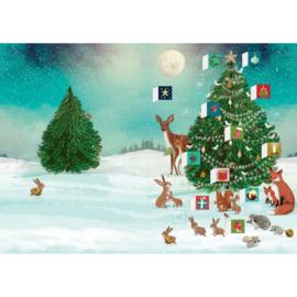 Adventskalender kaart Festive Forest Tree - Roger la Borde