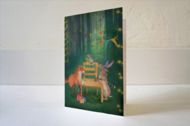 Wenskaart Stoel versieren - Lotte Drouen