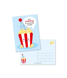 Ansichtkaart Just poppin by to say happy birthday - Studio Schatkist