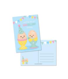 Ansichtkaart Wishing you an Eggcellent birthday - Studio Schatkist