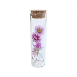 Glazen buisje met roze bloemen - Blooming by Flinde