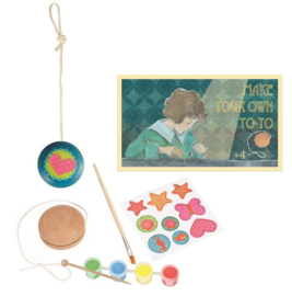 Knutselpakket houten jojo schilderen