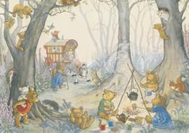 Ansichtkaart Teddy Bear Camp - Molly Brett
