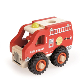 Houten brandweerauto - Egmont Toys