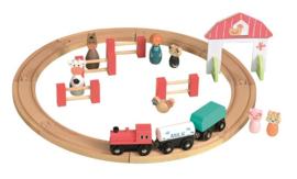 Houten treinbaan - Egmont Toys