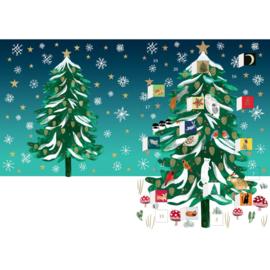 Adventskalender kaart Christmas Conifer - Roger la Borde