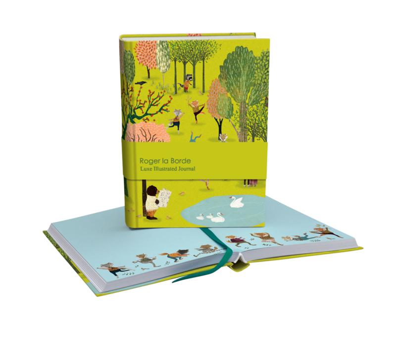 Geïllustreerd notitieboek Yoga in the Park - Roger la Borde