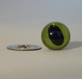 Veiligheidsoogjes Kattenoog Groen 9mm