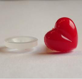Veiligheidsneusje hart rood 13mm