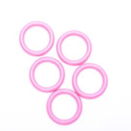 Plastic ringetjes 40mm - roze