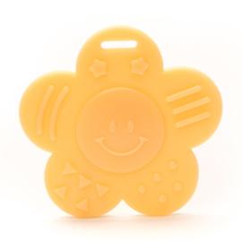 Plastic bijtring zonnetje - geel