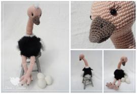 Haakpatroon struisvogel Saartje