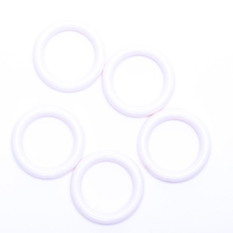 Plastic ringetjes 40mm - wit
