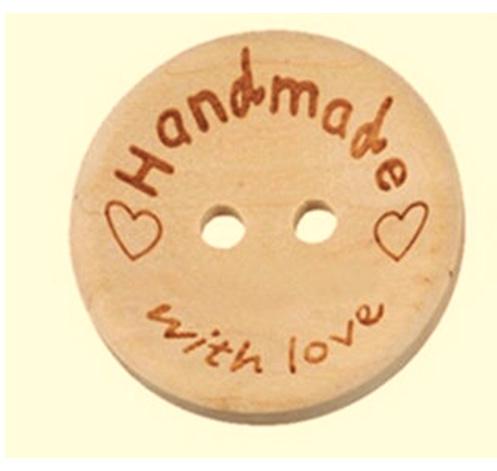 Handmade with love knoop 20mm