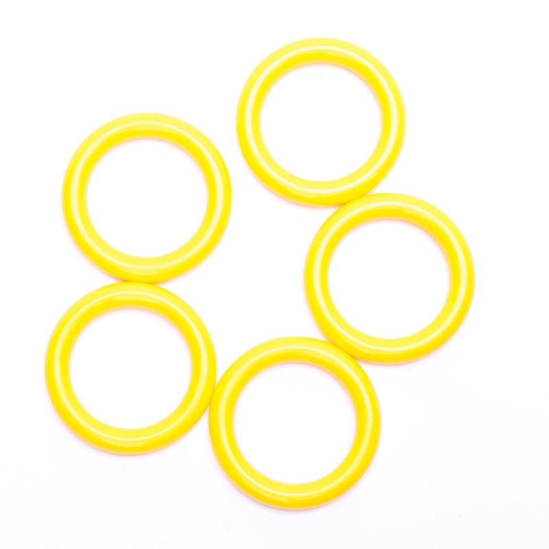 Plastic ringetjes 40mm - geel