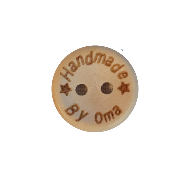 Handmade by oma Knoop 15mm