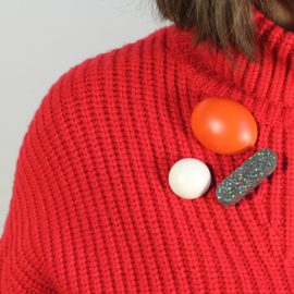1, 2, 3 Set Brooches