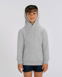 Heather Grey hooded capsule sweater for the little one
