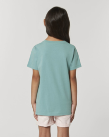 Teal Monstera t-shirt for the little ones