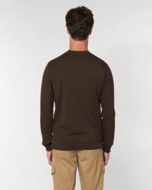 Deep Chocolate Uniseks Sweater met ronde hals