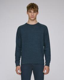 Dark Heather Denim capsule sweater for him