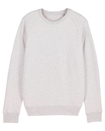 Cream Heather Grey sweater for him