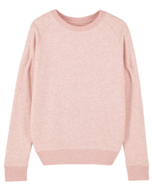 Cream Heather PInk sweater for her