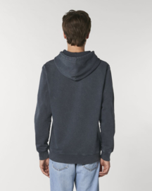 Hooded sweater Vintage Dyed Antraciet