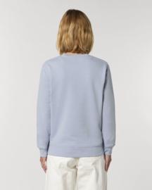 Serene Blue Uniseks Sweater met ronde hals