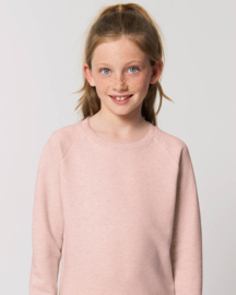 Cream Heather Pink capsule sweater for the little one