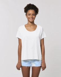 White loose tee for her