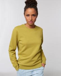 Heather Neppy Lemongrass Uniseks Sweater met ronde hals