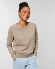 Heather Sand capsule sweater for her