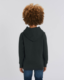 Black  hooded capsule sweater for the little one