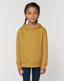 Ochre hooded capsule sweater for the little one