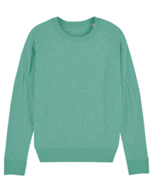Mid Heather Green sweater for her