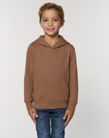 Caramel hooded capsule sweater for the little one