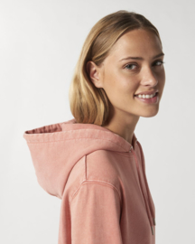 Hooded sweater Vintage Dyed Rose Clay