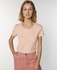 Heather Neppy Pink  t-shirt for her
