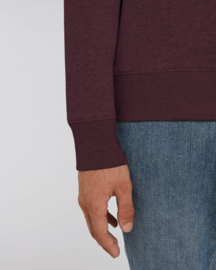 Heather Grape Red capsule sweater for him