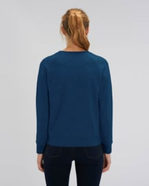 Black heather blue sweater for her